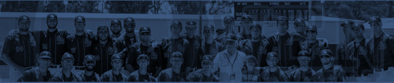 Roster Home page banner Blues Baseball San Luis Obispo