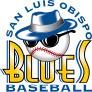 Blue's Baseball logo San Luis Obispo